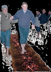 Fire walking
