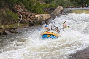 First hole Ash river rafting