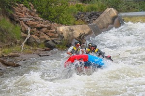 High adrenalin rafting on Ash river
