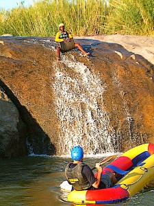 Bum slide Orange River Rafting Pella