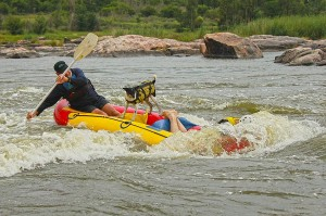 Raft surfing on rafting Parys