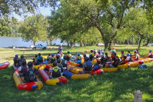 Safety talk for river rafting