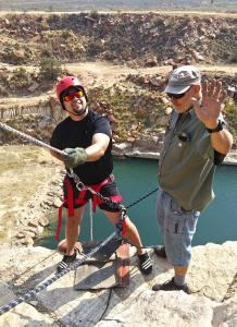 Abseiling 42 meter at Parys