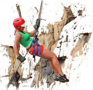 Team building and abseiling
