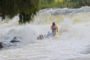 High action on Ash river white water rafting
