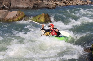 Kayaking on Hopetown Orange River tour