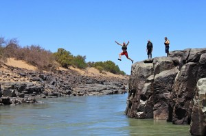 Heart stop rock on the Orange River