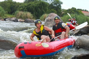 Parys river rafting team building