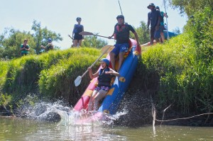 Launch for rafting trip in Parys