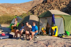 Campers on four day rafting tours